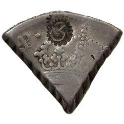 CURACAO: AR 3 reaal, ND [1819-25]. VF