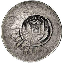 EL SALVADOR: Republic, AR real, ND [ca. 1868]
