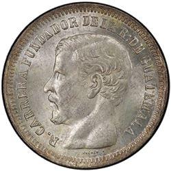 GUATEMALA: Republic, AR 2 reales, 1867-R. PCGS MS65