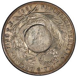 GUATEMALA: Republic, AR peso, ND [1894]. PCGS MS62