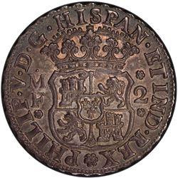 MEXICO: Philip V, 1700-1746, AR 2 reales, 1736/4-Mo. PCGS MS63