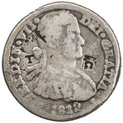 MEXICO: Fernando VII, 1808-1821, AR cast 8 reales, 1812-CA. VF