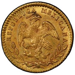 MEXICO: First Republic, 1824-1864, AV 1/2 escudo, 1848-Mo. PCGS MS61