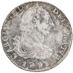 PERU: Carlos III, 1759-1788, AR 8 reales, 1778. EF-AU