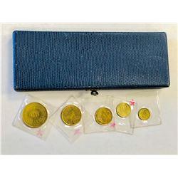 PERU: Republic, 5-coin proof set, 1965