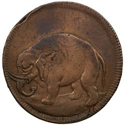 UNITED STATES:, London halfpenny token, (15.77g) ND [1672-94]