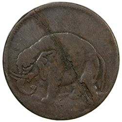 UNITED STATES:, London halfpenny token, (13.86g) ND [1672-94]