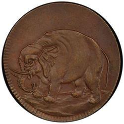 UNITED STATES:AE halfpenny token. PCGS AU58
