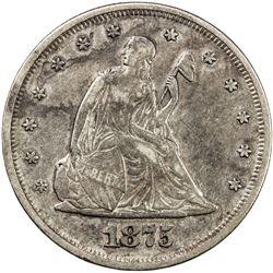 UNITED STATES:, AR 20 cent, 1875