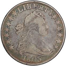 UNITED STATES: AR Draped Bust Half Dollar, 1803, Large 3