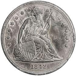 UNITED STATES: AR dollar, 1842