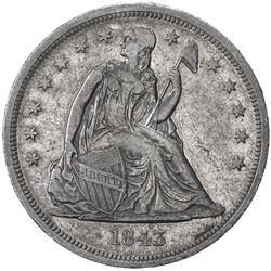 UNITED STATES: AR dollar, 1843