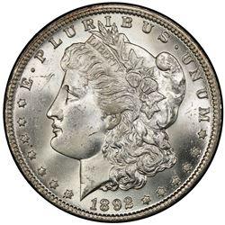 UNITED STATES: AR Morgan dollar, 1892-O
