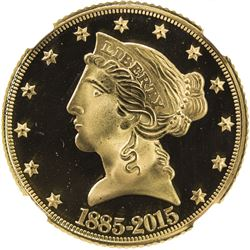 UNITED STATES: AV 5 dollars, 2015-CC. NGC UNC