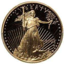 UNITED STATES: AV 10 dollar, 2002-W. PCGS PF70