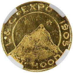 UNITED STATES: AV 1/4 dollar token, 1905. NGC MS65