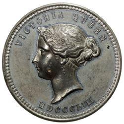 AUSTRALIA: Victoria, 1837-1901, medal (64.77g), 1853. EF