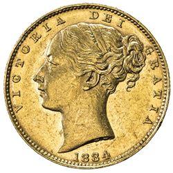 AUSTRALIA: Victoria, 1837-1901, AV sovereign, 1884-M. UNC