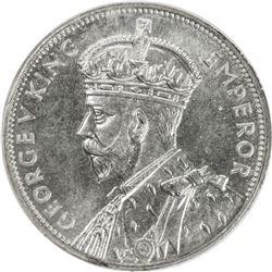 AUSTRALIA: George V, 1910-1936, AR florin, 1934-5. NGC MS64
