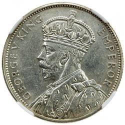 AUSTRALIA: George V, 1910-1936, AR florin, 1934-35. NGC MS61