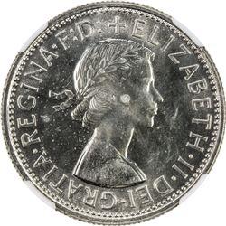 AUSTRALIA: Elizabeth II, 1952-, AR florin, 1957. NGC PF65