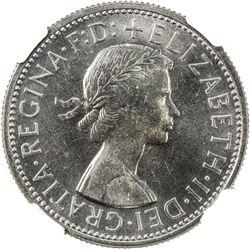 AUSTRALIA: Elizabeth II, 1952-, AR florin, 1960. NGC PF66
