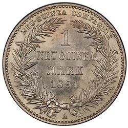 GERMAN NEW GUINEA: Wilhelm II, 1888-1918, AR mark, 1894-A. PCGS MS63