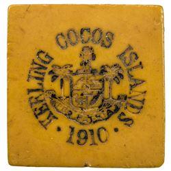 KEELING-COCOS ISLANDS: John S. Clunies-Ross, 1910-1944, 1 rupee token, 1913. VF
