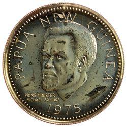 PAPUA NEW GUINEA: Republic, AV 100 kina, 1975-FM(U). BU