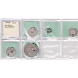 WORLDWIDE: LATIN AMERICA: LOT of 5 countermarked coins