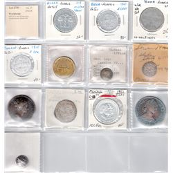 WORLDWIDE: LOT of 12 very diverse coins