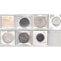 WORLDWIDE: LOT of 6 diverse coins