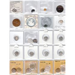 WORLDWIDE: LOT of 53 diverse coins