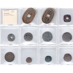 WORLDWIDE: LOT of 11 base-metal coins