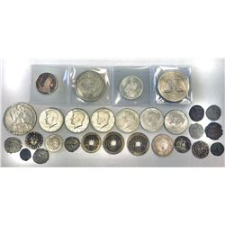 WORLDWIDE: LOT of 28 miscellaneous coins