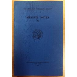 American Numismatic Society. Museum Notes 22
