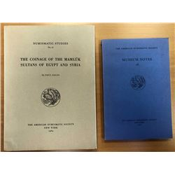 Balog, Paul. The Coinage of the Mamluk Sultans of Egypt and Syria