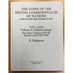 Pridmore, Fred. The Coins of the British Commonwealth of Nations to the end of the reign of George V
