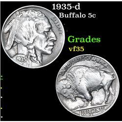 1935-d Buffalo Nickel 5c Grades vf++