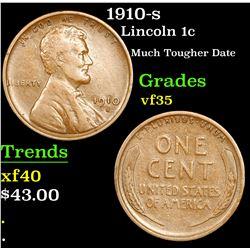 1910-s Lincoln Cent 1c Grades vf++