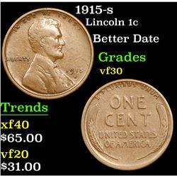 1915-s Lincoln Cent 1c Grades vf++