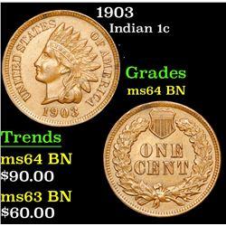 1903 Indian Cent 1c Grades Choice Unc BN
