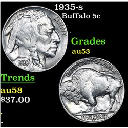 1935-s Buffalo Nickel 5c Grades Select AU