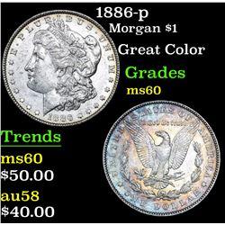 1886-p Morgan Dollar $1 Grades BU