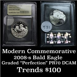 2008-s Bald Eagle Modern Commem Half Dollar 50c Graded GEM++ Proof Deep Cameo By USCG