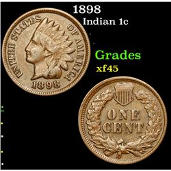 1898 Indian Cent 1c Grades xf+