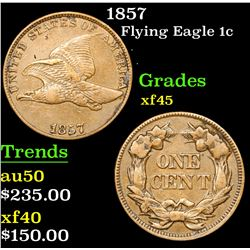 1857 Flying Eagle Cent 1c Grades xf+