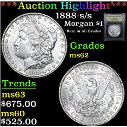 ***Auction Highlight*** 1888-s/s Morgan Dollar $1 Graded Select Unc By USCG (fc)