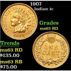 1907 Indian Cent 1c Grades Select Unc RD