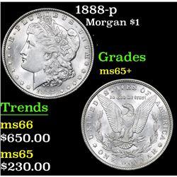 1888-p Morgan Dollar $1 Grades GEM+ Unc